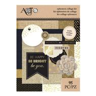 ArtC Ephemera Collage Kit - Metallic 95 pc (25072)