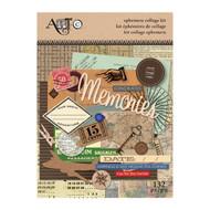 ArtC Ephemera Collage Kit - Travel 132 pc (25061)