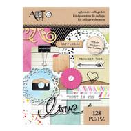 ArtC Ephemera Collage Kit - Word Play 128 pc (25074)