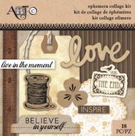 ArtC Ephemera Collage Kit - Love Small Kit