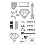 ArtC Stamp & Die Combo - Diamonds 20 pc