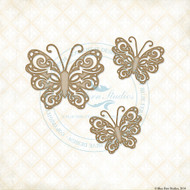 Blue Fern Studios - Chipboard - Fantasy Butterfly Set