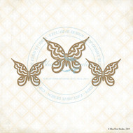 Blue Fern Studios - Chipboard - Gabrielle Butterfly Set