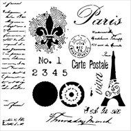 The Crafters Workshop 6 x 6 Stencil - Carte Postale (TCW626)