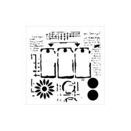 The Crafters Workshop 6 x 6 Stencil - Three Tags (TCW624)