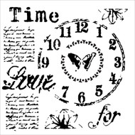 The Crafters Workshop 6 x 6 Stencil - Time For Love (TCW622)