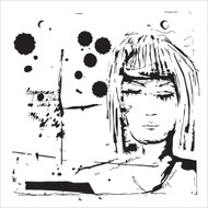 The Crafters Workshop 6 x 6 Stencil - Dream Girl (TCW617)