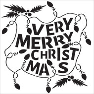 The Crafters Workshop 6 x 6 Stencil - Christmas Lights (TCW591)