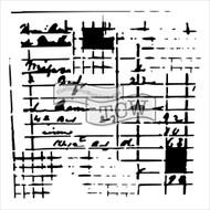 The Crafters Workshop 6 x 6 Stencil - Receipt (TCW587)