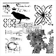 The Crafters Workshop 6 x 6 Stencil - Raven Mosaic (TCW586)