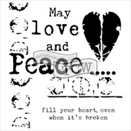 The Crafters Workshop 6 x 6 Stencil - Love & Peace (TCW584)