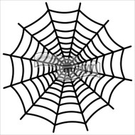 The Crafters Workshop 6 x 6 Stencil - Spiderweb (TCW572)