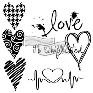 The Crafters Workshop 6 x 6 Stencil - Complicated Hearts (TCW567)