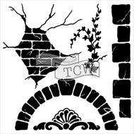 The Crafters Workshop 6 x 6 Stencil - Tuscan Sun (TCW563)