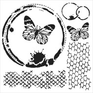 The Crafters Workshop 6 x 6 Stencil - Butterfly Collage (TCW554)