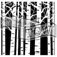 The Crafters Workshop 6 x 6 Stencil - Aspen Tree (TCW252)
