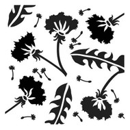 The Crafters Workshop 6 x 6 Stencil - Dandelions (TCW255)