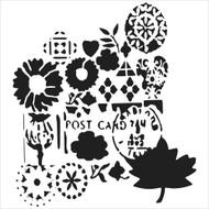 The Crafters Workshop 6 x 6 Stencil - Postcard (TCW536)