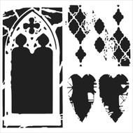 The Crafters Workshop 6 x 6 Stencil - Cathedral Of Love (TCW532)