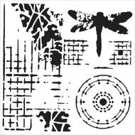 The Crafters Workshop 6 x 6 Stencil - Screen Print (TCW525)