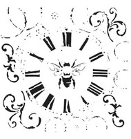 The Crafters Workshop 6 x 6 Stencil - Bee On Time (TCW489)