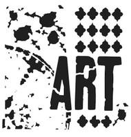 The Crafters Workshop 6 x 6 Stencil - Viva La Art (TCW488)