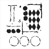 The Crafters Workshop 6 x 6 Stencil - Harlequin Circles (TCW459)