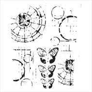 The Crafters Workshop 6 x 6 Stencil - Specimens (TCW454)