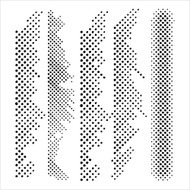 The Crafters Workshop 6 x 6 Stencil - Halftone Borders (TCW419)