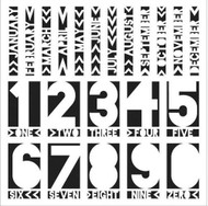 The Crafters Workshop 6 x 6 Stencil - Life Months (TCW367)