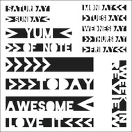 The Crafters Workshop 6 x 6 Stencil - Life Strips (TCW316)
