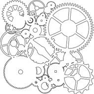 The Crafters Workshop 6 x 6 Stencil - Gears (TCW262)