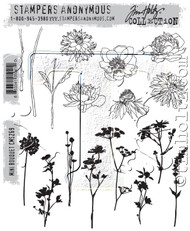 Tim Holtz Cling Rubber Stamp Mini Bouquet (CMS269)