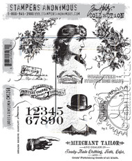 Tim Holtz Cling Rubber Stamp Ladies & Gentlemen (CMS268)