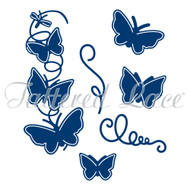 attered Lace Die - Essentials by Tattered Lace - Spring Into Summer Butterflies + Stamp Set (ETL203)