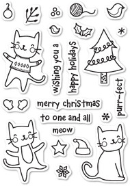 Poppystamps - Purrfect Holidays - Clear Stamp Set (PS-CL431)