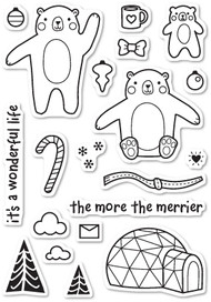 Poppystamps - Wintertime Bears - Clear Stamp Set (PS-CL432)