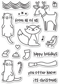 Poppystamps - Christmas Friends - Clear Stamp Set (PS-CL435)