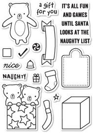 Poppystamps - Naughty or Nice - Clear Stamp Set (PS-CL436)
