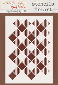 Wendy Vecchi Stencils For Art - Repeating Quilt (WVSFA 041)