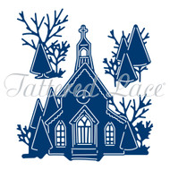 Tattered Lace Essentials Die and Stamp Set - Magic of Christmas Church (ETL346)