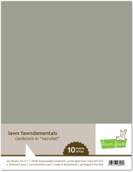 Lawn Fawn - 8.5x11 Cardstock - Narwhal (Preorder) (LF1272)