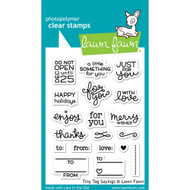 Lawn Fawn - Rubber Stamps - Tiny Tag Sayings (Preorder) (LF1222)