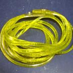 Jelly Type DBL Wrap Around Glitter Bracelet Yellow 12 per pk .50