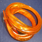 Jelly Type DBL Wrap Around Glitter Bracelet Orange 12 per pk .50 ea