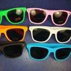 Wayfare Look Rubberized Fashion Sunglasses Asst Colors. 1.12 ea