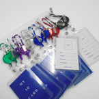 Retrachable ID Holder w/ Mt. Climber Hook Asst Colors .56 EACH