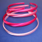 4 Pk Satin Headband Asst Pinktones 48 pcs per pk