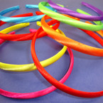 4 Pk Satin Headband Asst Bright Colors 48 pcs per pk