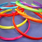 4 Pk Satin Headband Asst Bright Colors 48 pcs per pk